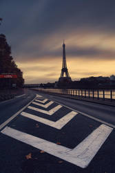 Eiffel sunset color2 by sebastienlory