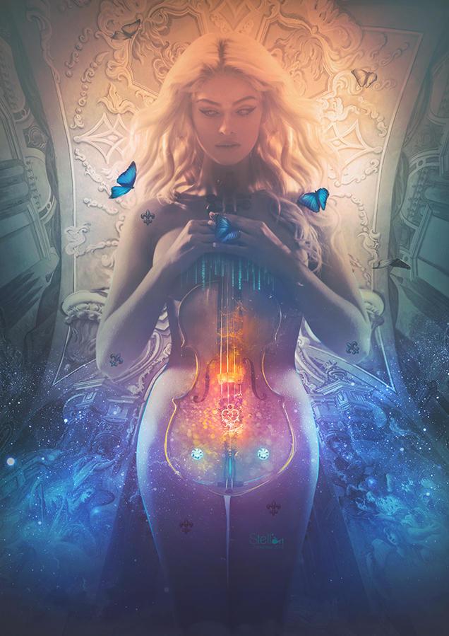 Butterfly violin by stellartcorsica