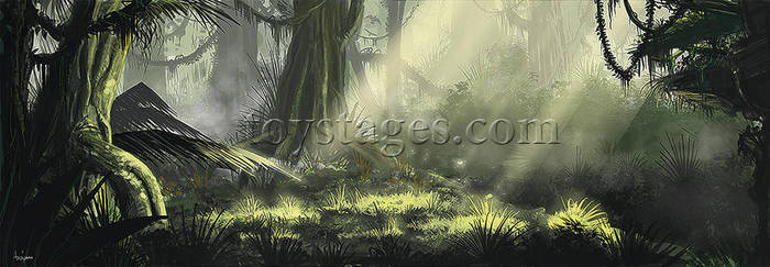 Jungle scene concept by littlewing2
