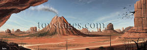 Desert scene concept by littlewing2