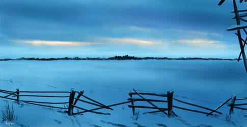 Snowy Landscape by littlewing2