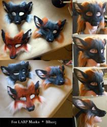 Fox LARP Masks by Magpieb0nes
