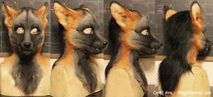 Cross Fox head by Magpieb0nes