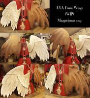 EVA Foam Wings- WIP- Prototype by Magpieb0nes