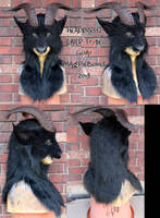 Larp style goat mask by Magpieb0nes