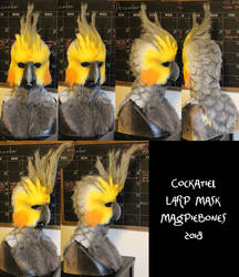 Cockatiel LARP Mask by Magpieb0nes