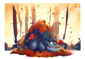Autumn shenanigans by SkiddMcMarxx