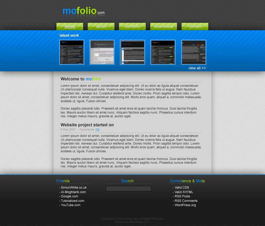 mofolio - Personal Blog by moDesignz