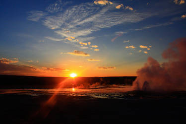 Geyser Sunset by jakeh13