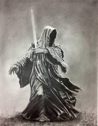 Nine for Mortal Men Doomed to Die - Graphite 11x14 by 70ms