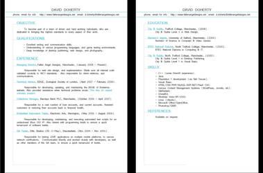 Fallen Angel Designs - Resume by sonicalpha