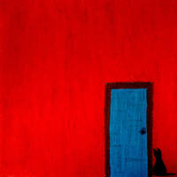 Red-Door and a Cat by DilanSarioglu