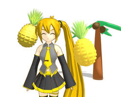 MMD - Pineapple +DL by AbsentWhite