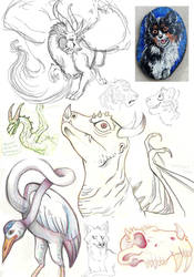 2017 sketches 4 by kookybat