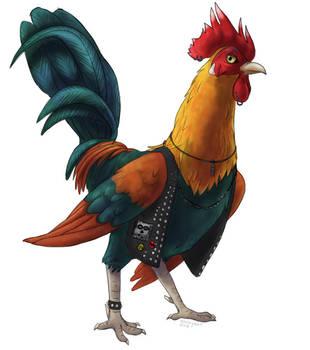 Punk Rooster by kookybat