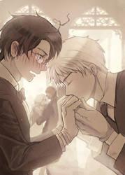 Kiss hand back by shidouaoi