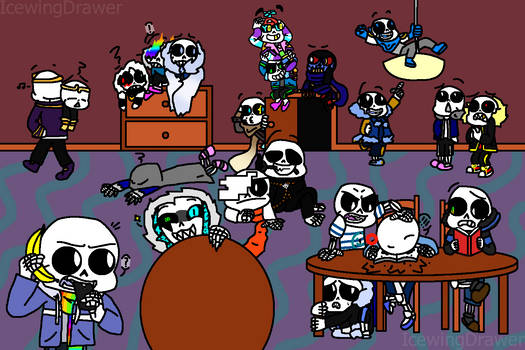 [Squad Meme] A SANS-sational Party! by IcewingDrawer