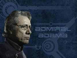 Admiral Adama wallpaper by babylon-burning
