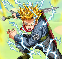Trunks Super Saiyan 2 Full Power Dragon Ball Super by BL-Sama
