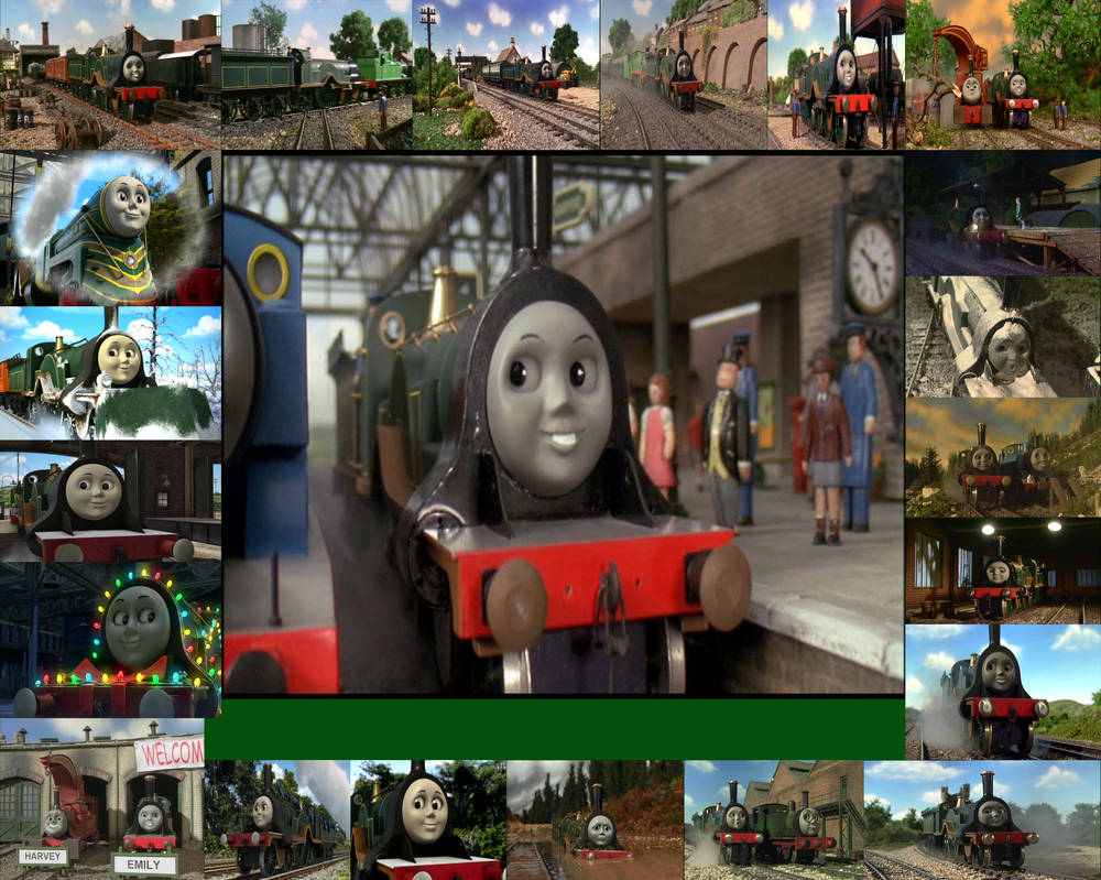 emily the emerald engine collage by thomperfan on deviantart