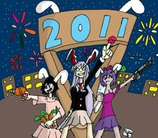 Happy Rabbit Year by Retro7