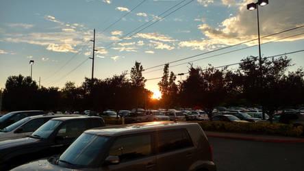 Parking lot sunset by DreamBliss