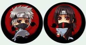 Naruto button set Sharingan by Radittz