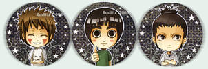 Konoha High button set 1 by Radittz