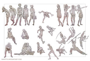 Gesture drawing practice by Radittz