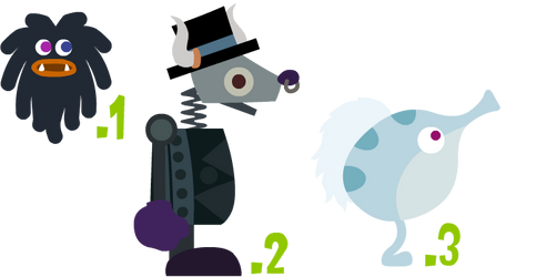 (open)Winter-Themed LocoRoco Characters Adopts! by Topaz-The-CrossCat73