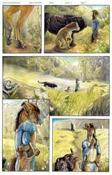 .Comic. Pg 1 colors by Ahkahna