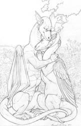 Cuddles by Ahkahna