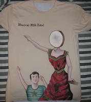 Neutral Milk Hotel Tshirt by antiaxelsora