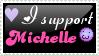 I support Michelle :3 stamp by Druivenstruik