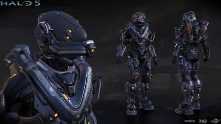 Halo 5: Mako armor by profchaos354
