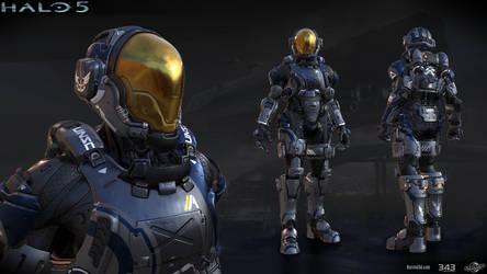 Halo 5: Buccaneer armor by profchaos354