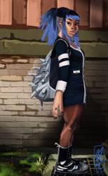 Blue Hair, Don't Care by MeganRoseThomas