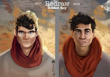 Sunset Boy Redraw by MeganRoseThomas
