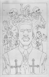 Chris Brown Drake n Meek Millz AMEN sketch by bobbett