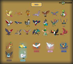 Bird Pokemon by Saiph-Charon