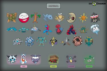 Mineral Pokemon by Saiph-Charon