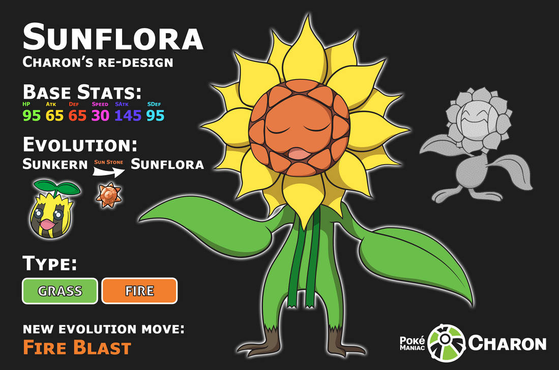 ReDesign - Sunflora by Saiph-Charon