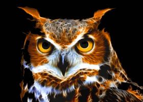 Eurasian Eagle Owl by CmdrChaos