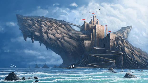Shark castle Rock by BobKehl