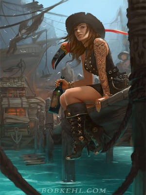 Pirate Haven Tortuga by BobKehl