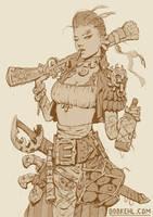 Sun pirate sketch by BobKehl