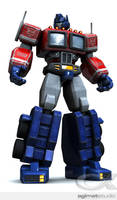 Optimus Prime + texture test + by shadowfork