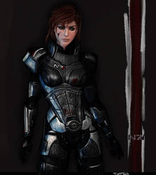 Commander Shepard by TuftTail