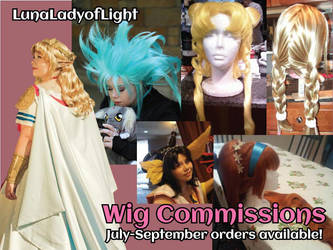 Open for Summer Wig Commissions! by lunaladyoflight