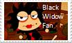 Black Widow Fan Stamp by 1313cookie